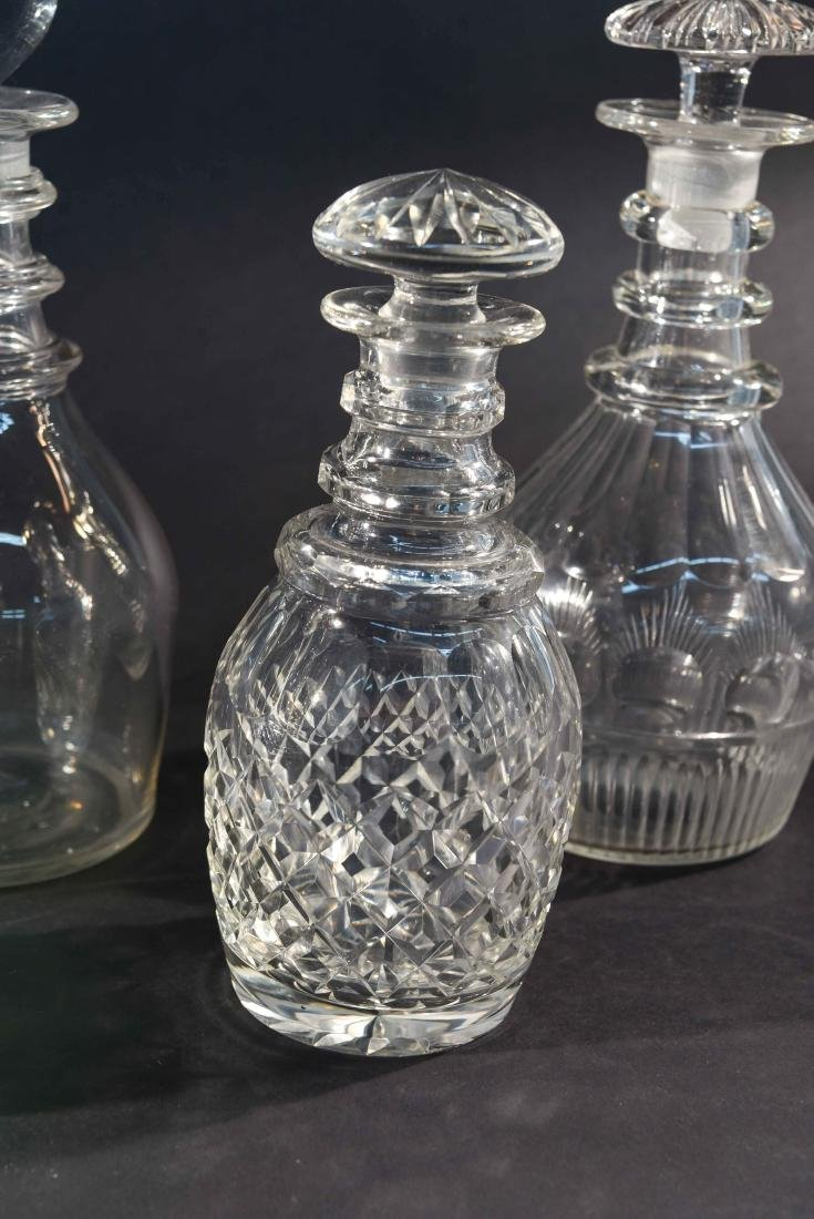 GROUPING OF 6 DECANTERS - 4