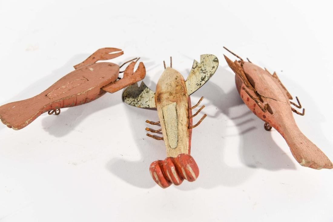 (3) LOBSTER ICE FISHING DECOYS - 7