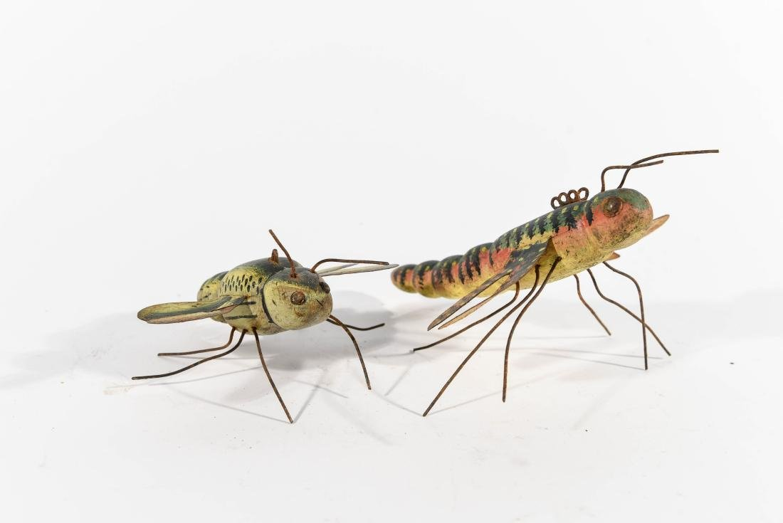 PAIR OF DRAGONFLY ICE FISHING DECOYS