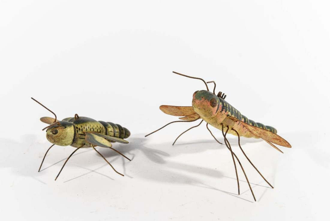 PAIR OF DRAGONFLY ICE FISHING DECOYS - 4