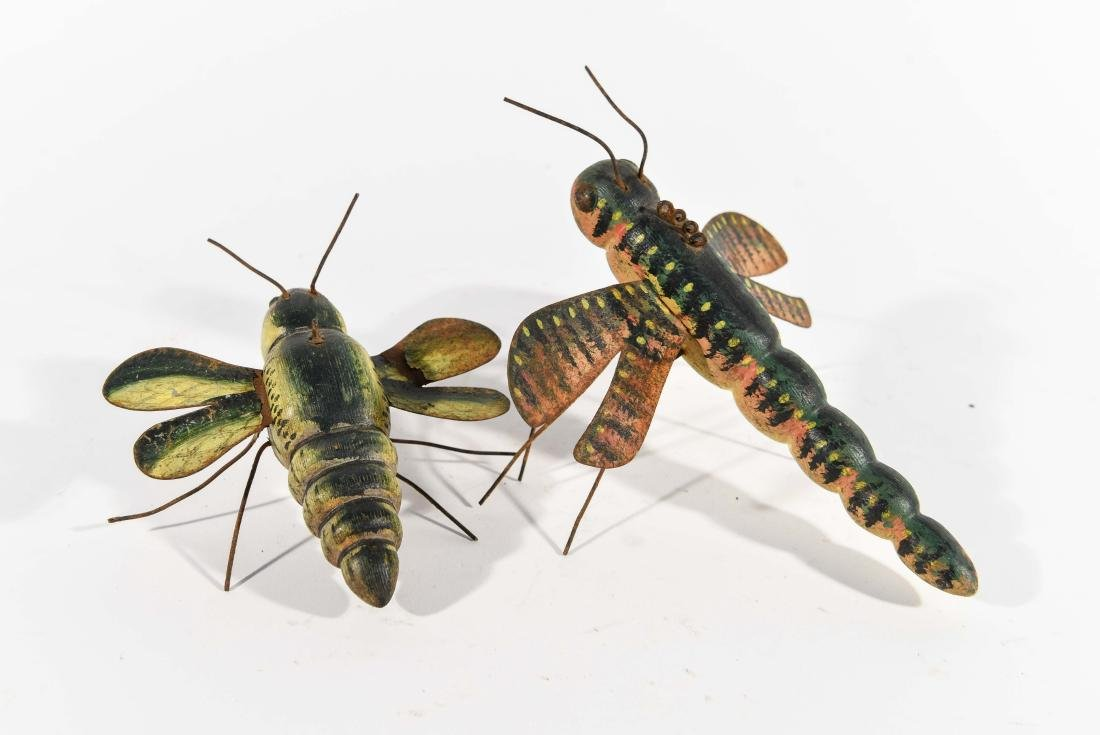 PAIR OF DRAGONFLY ICE FISHING DECOYS - 5