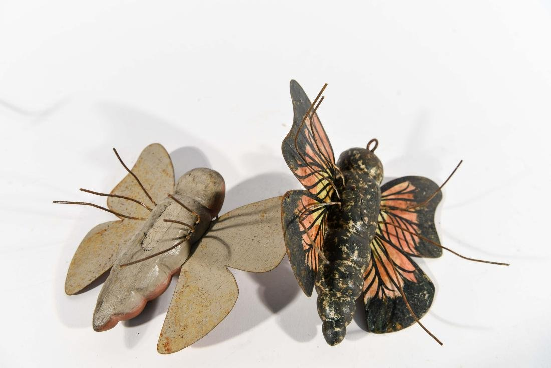 PAIR OF BUTTERFLY ICE FISHING DECOYS - 5
