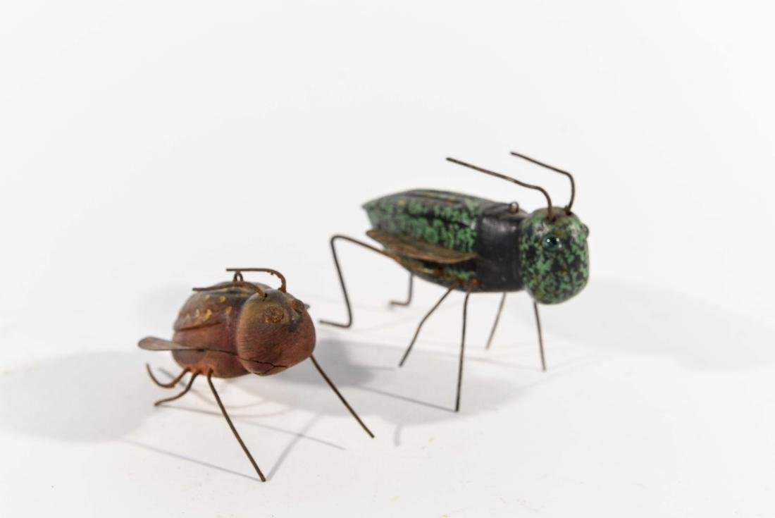 PAIR OF INSECT ICE FISHING DECOYS