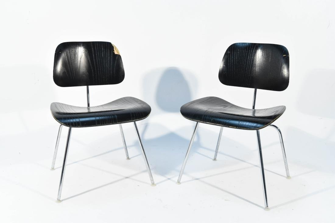 PAIR OF EAMES DCM CHAIRS