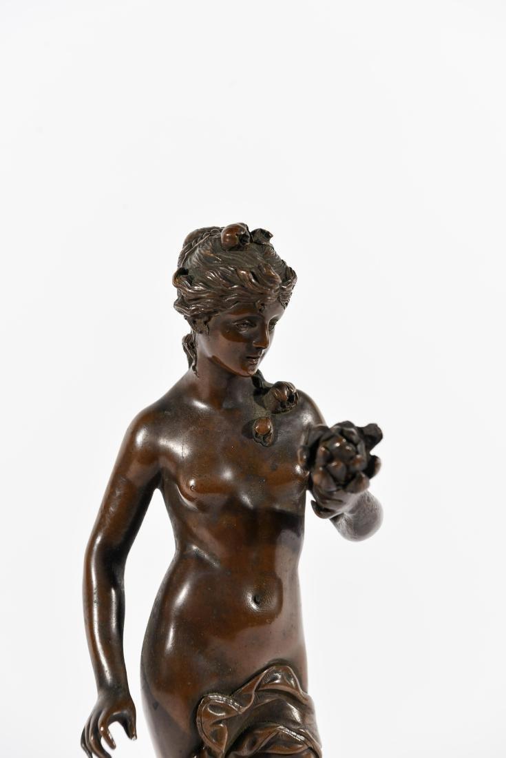 VIENNA BRONZE FEMALE NUDE SCULPTURE - 2