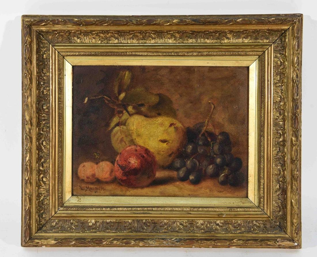 L. MANNERS, O/B STILL LIFE PAINTING