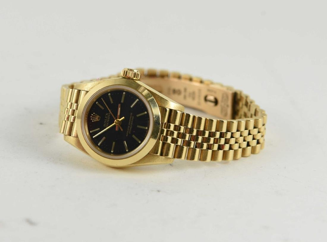18K GOLD ROLEX OYSTER PERPETUAL LADIES WATCH 67188