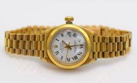 Rolex Datejust 18k Yg Women's Watch.