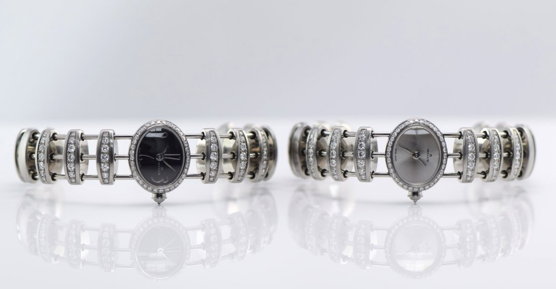 Milus Two Stainless Steel and Diamond Watches.