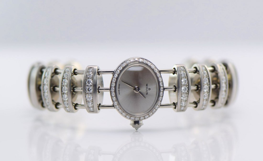 Milus Two Stainless Steel and Diamond Watches. - 2