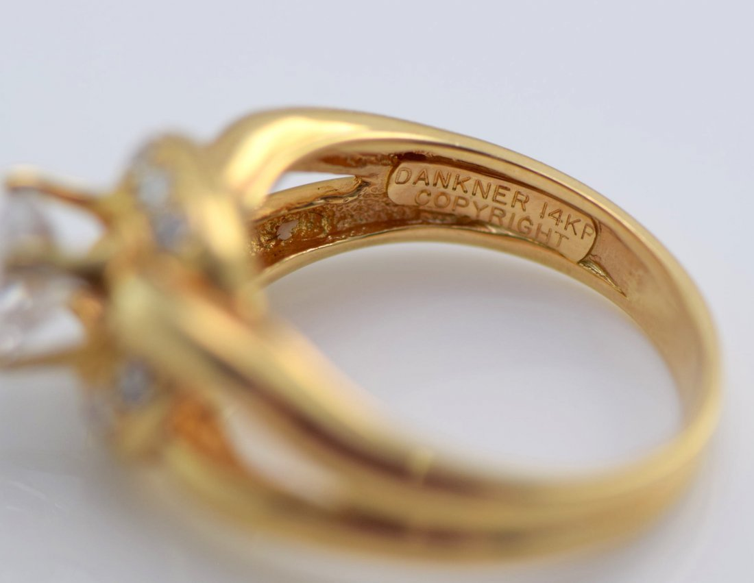 5 Gold Diamond and Simulated Diamond Rings. - 8
