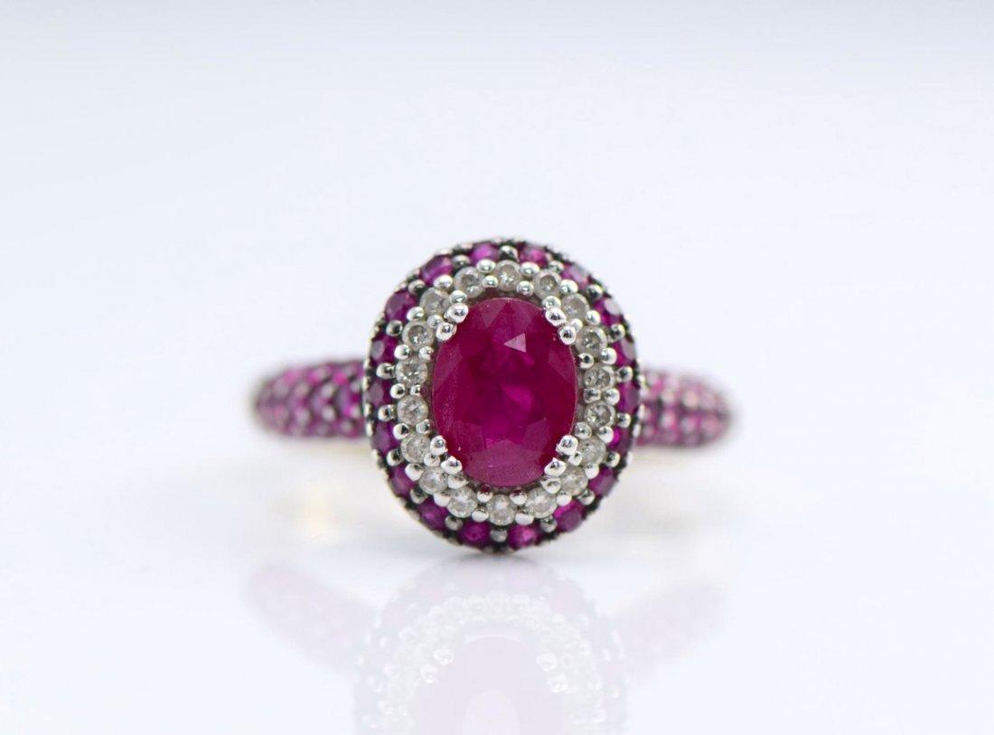 4 Gold Sapphire, Diamond, Ruby & Emerald Rings. - 2