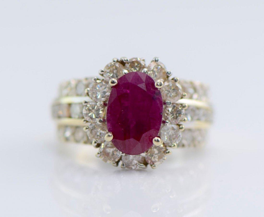 4 Gold Sapphire, Diamond, Ruby & Emerald Rings. - 3