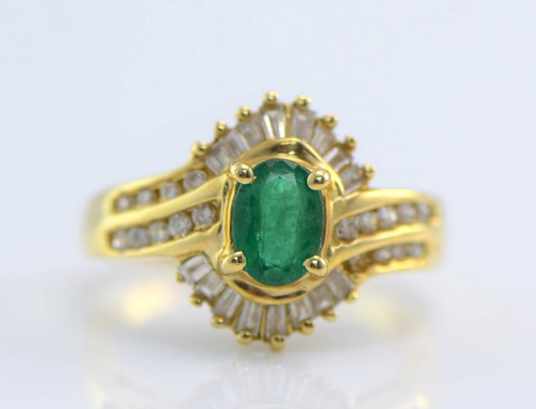 4 Gold Sapphire, Diamond, Ruby & Emerald Rings. - 5