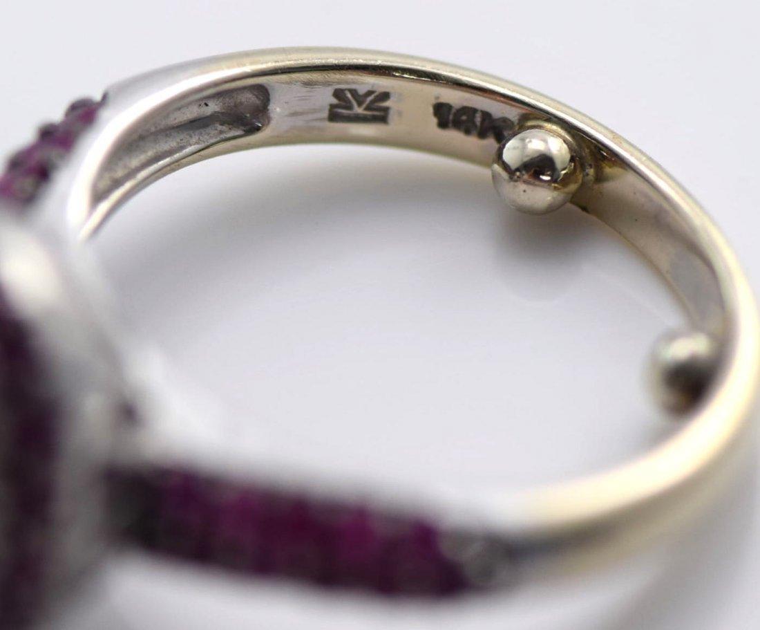 4 Gold Sapphire, Diamond, Ruby & Emerald Rings. - 7