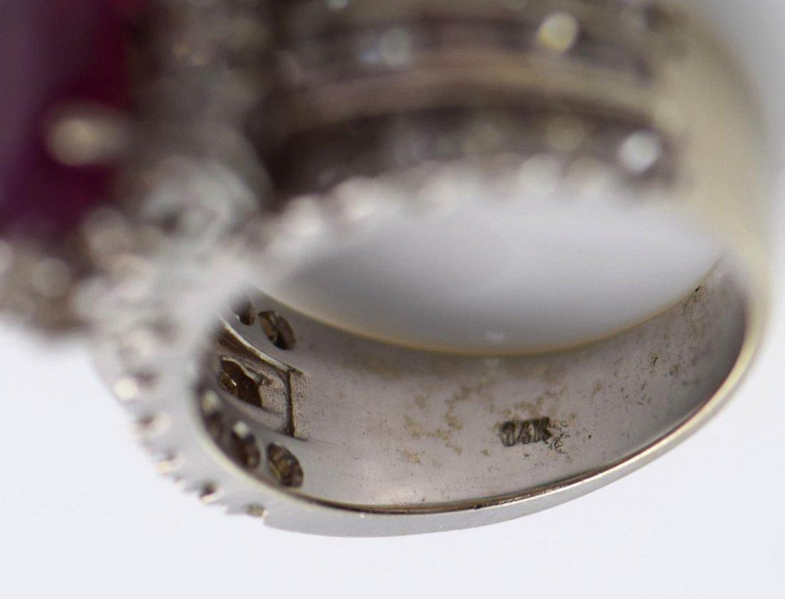4 Gold Sapphire, Diamond, Ruby & Emerald Rings. - 8