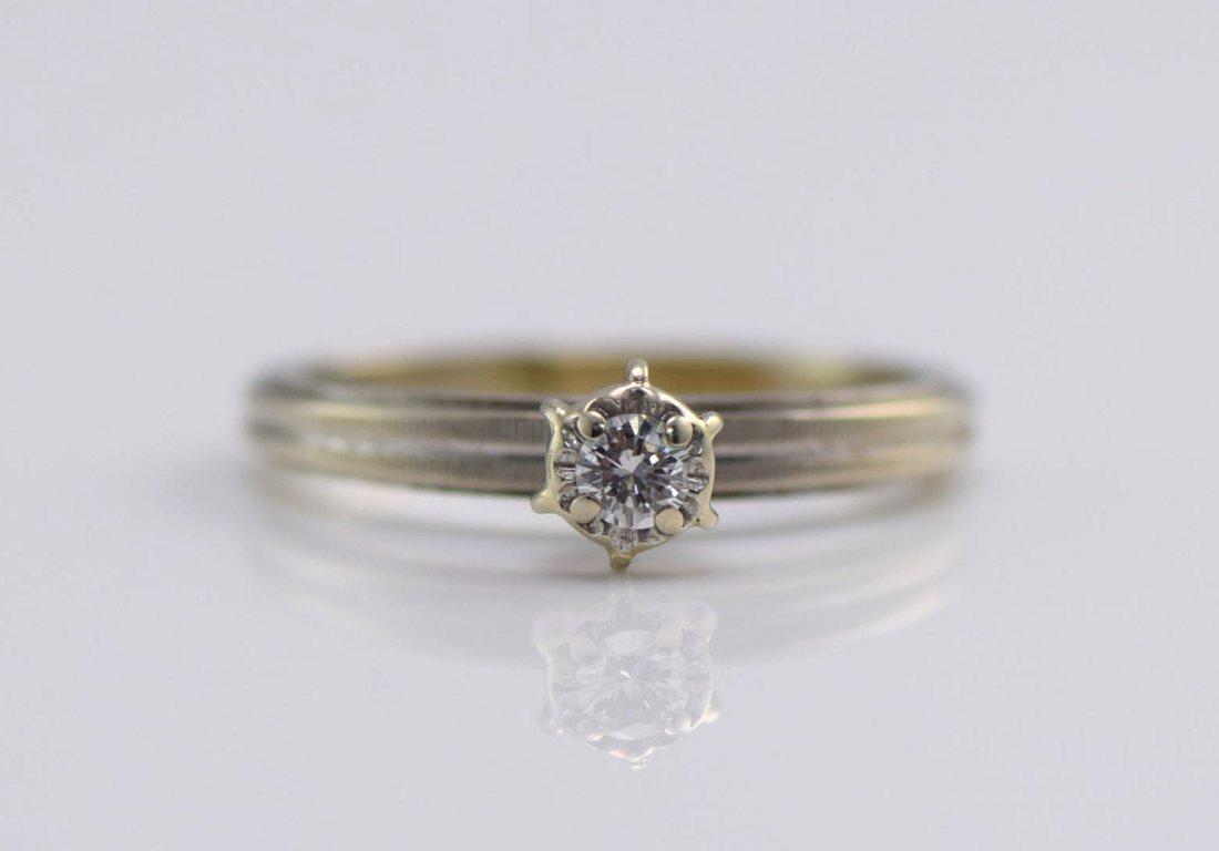 3 White Gold & Diamond Rings. - 2