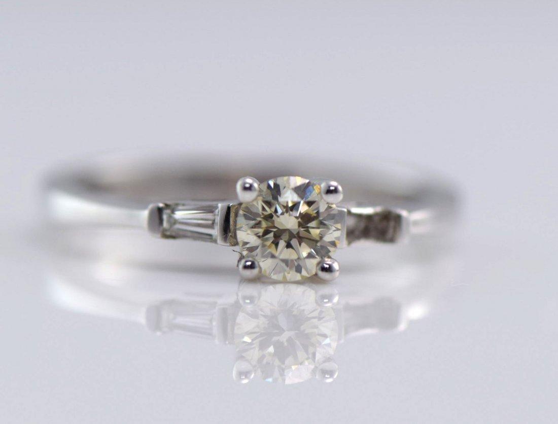 3 White Gold & Diamond Rings. - 3