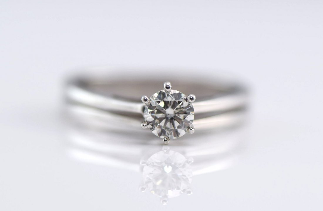 3 White Gold & Diamond Rings. - 4