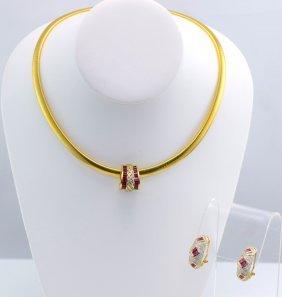 YG Ruby & Diamond Jewelry.