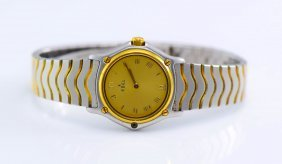 Ebel Quartz Stainless Steel and Gold WristWatch.