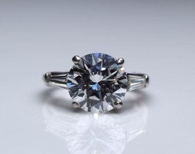 GIA CERT. 4.30CT Diamond Ring.