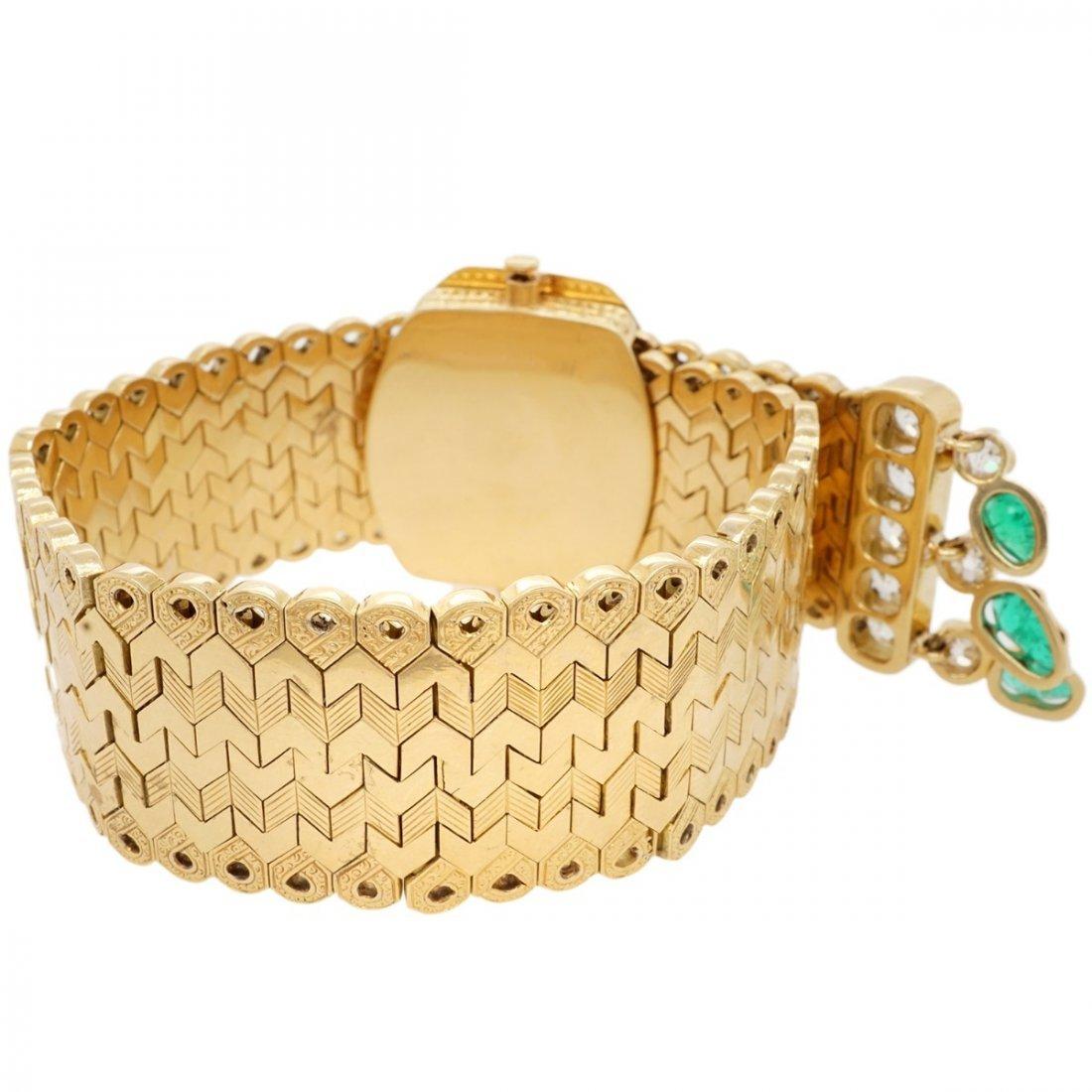 FRENCH EMERALD DIAMOND 18 KARAT GOLD BRACELET - 7