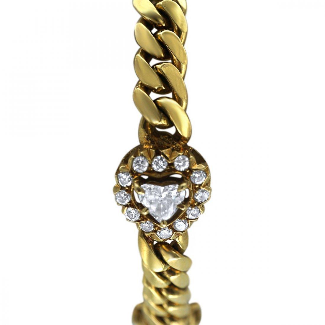 DIAMOND AND 18 KARAT GOLD BRACELET