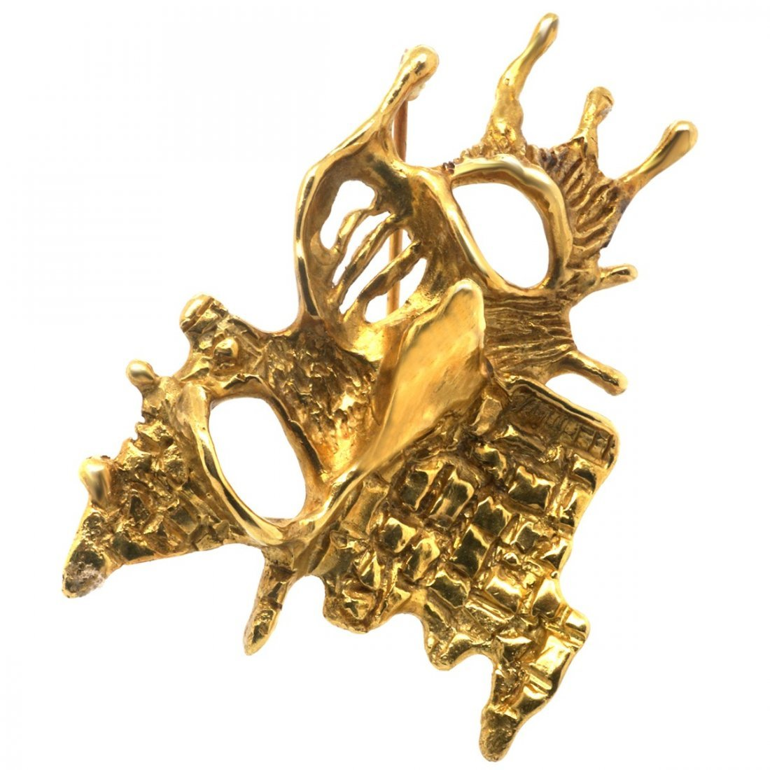 18 KARAT GOLD BROOCH