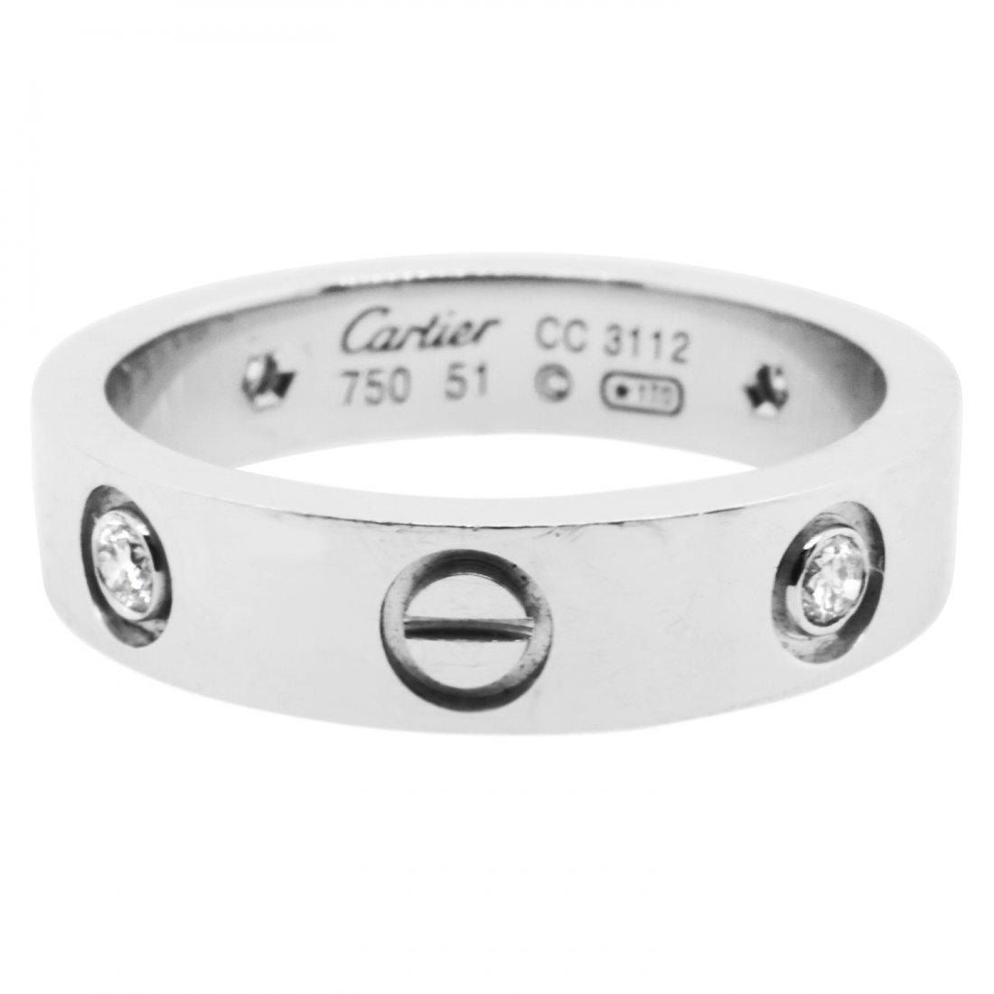 Cartier Diamond and 18 Karat Gold Love Ring