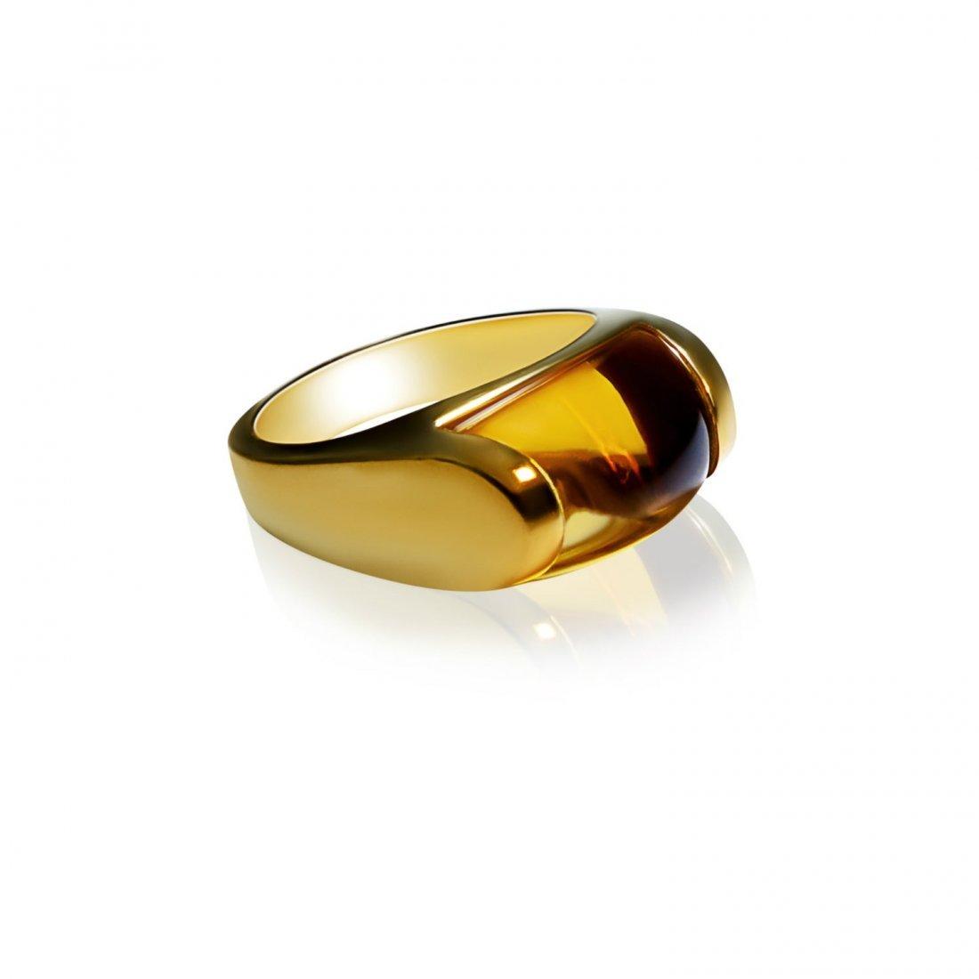 Bulgari 18K Yellow Gold and Citrine Ring