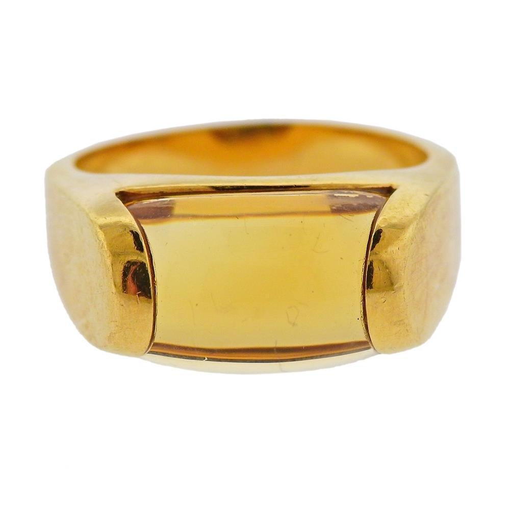 Bvlgari Bulgari 18k Gold Citrine Ring