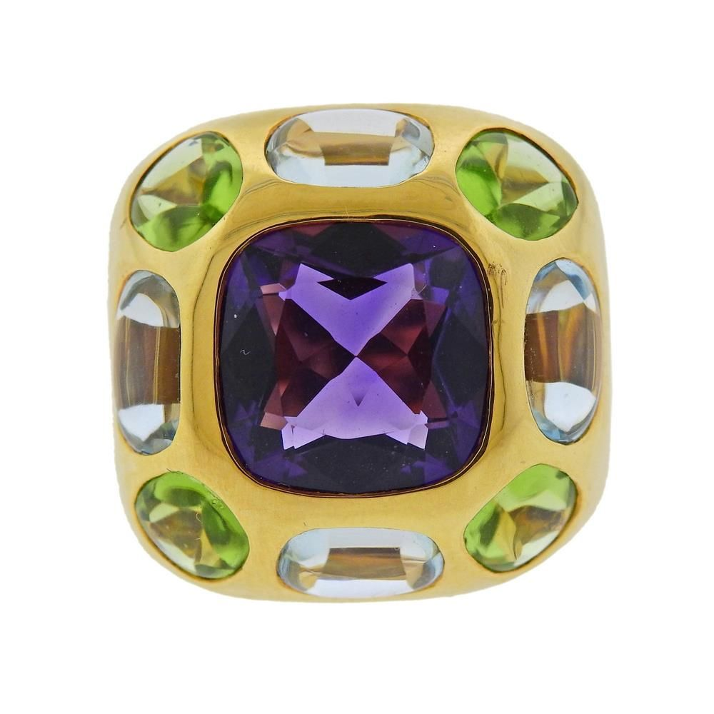 Chanel Coco Baroque 18K Gold Gemstone Ring