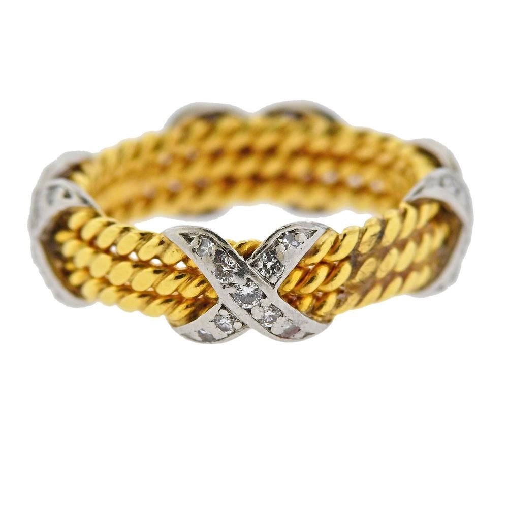 Tiffany & Co Schlumberger 18K Gold Diamond Rope