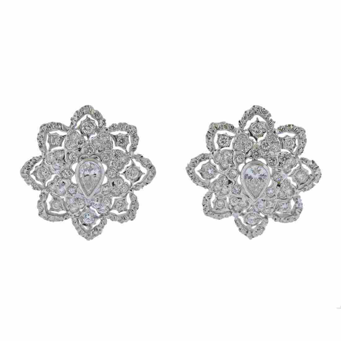 Diamond Gold Openwork Earrings