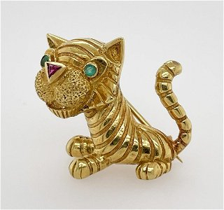 Adorable Tiger Pin