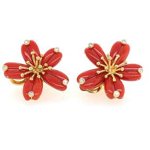 Aletto Brothers Coral Flower Earclips