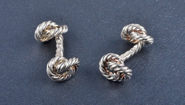 2: Hermes silver Cuff-links
