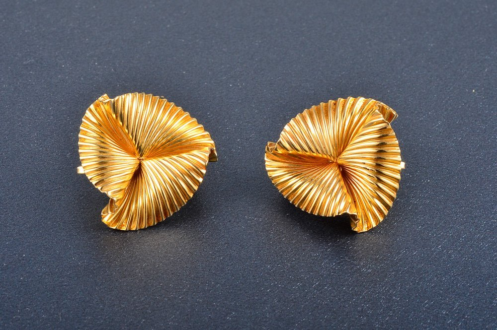 3: Tiffany and Co. gold ear clips