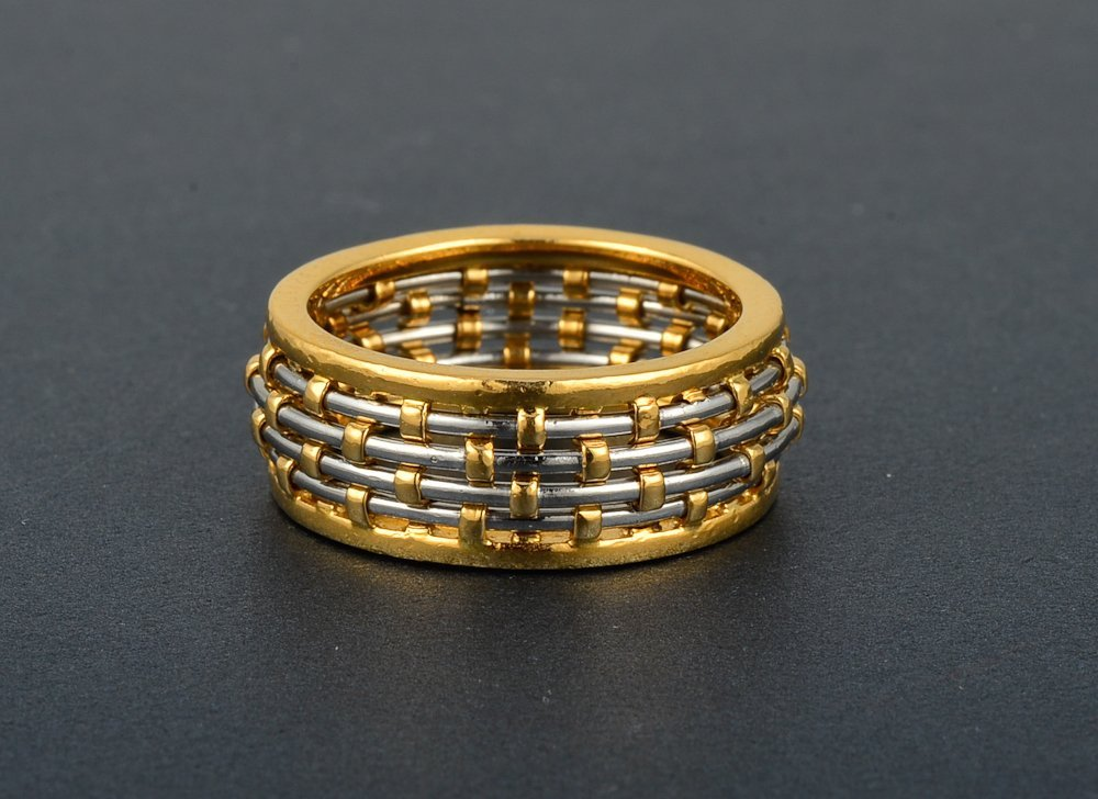 15: Cartier two tone gold ring