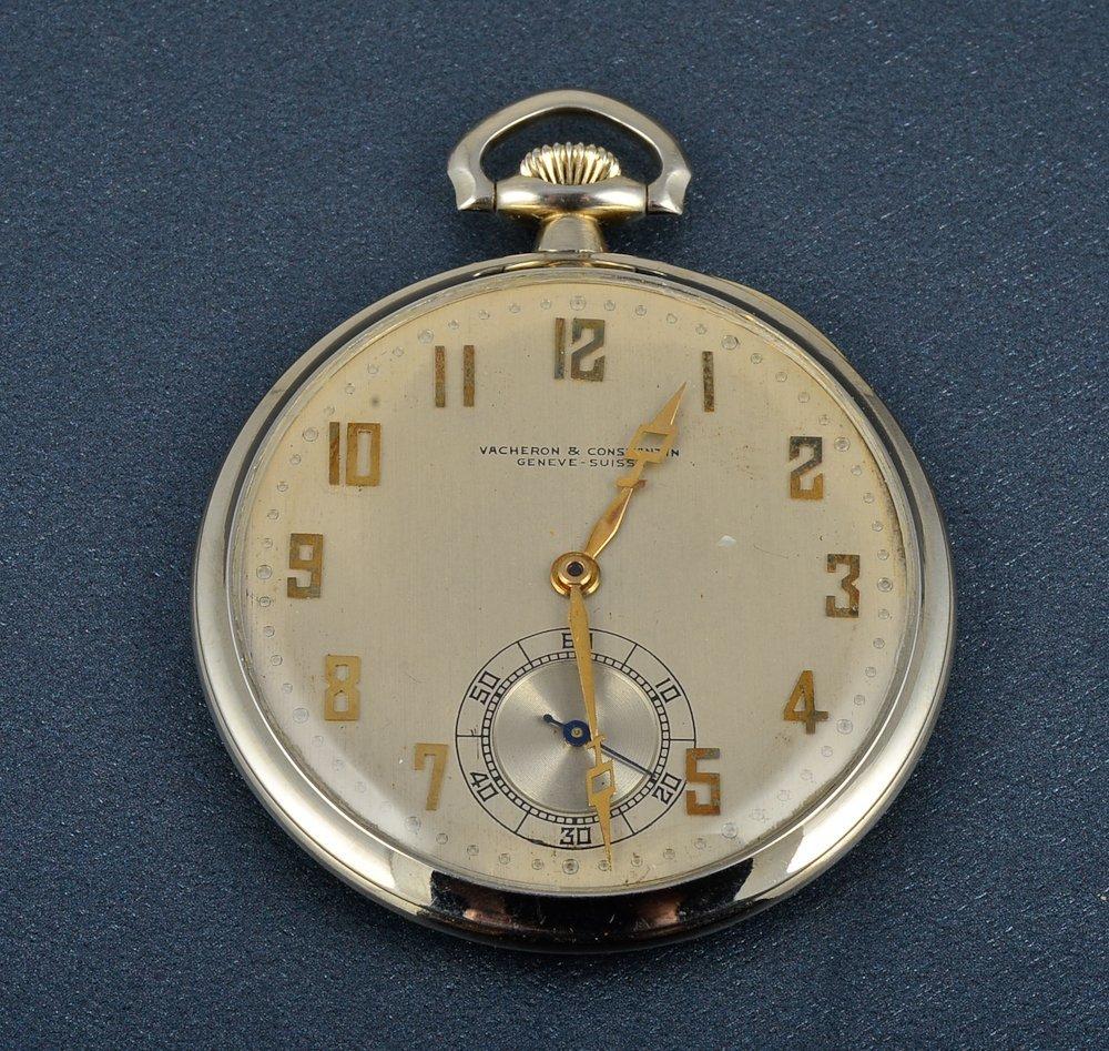 40: Vacheron & Constantin white gold pocket watch