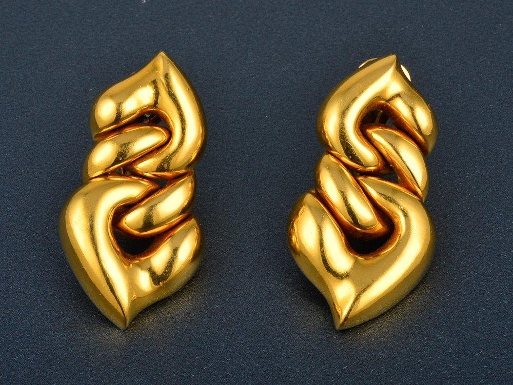 46: Bvlgari gold ear clips