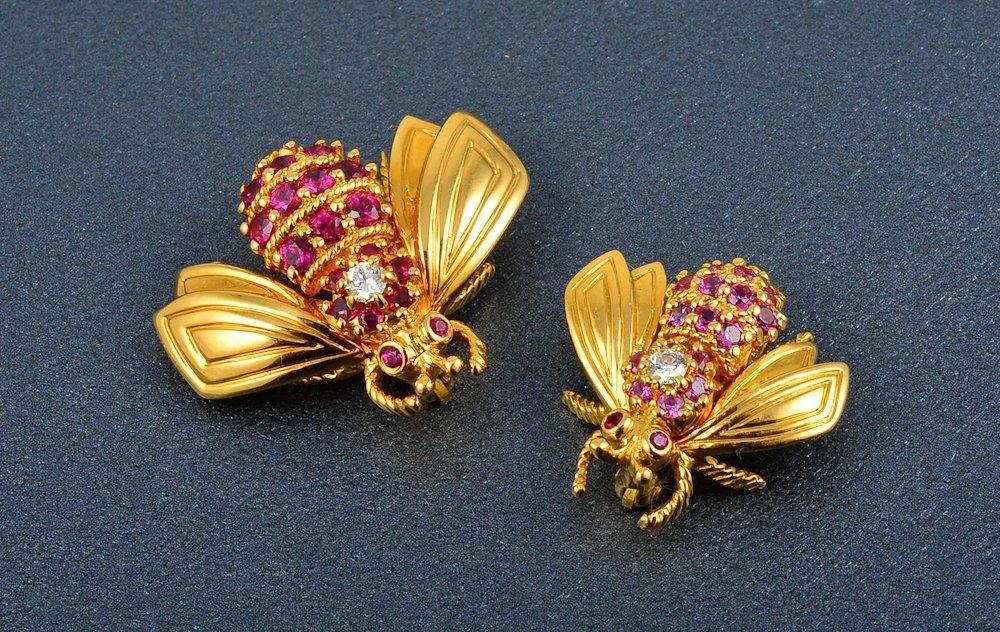 64: Tiffany & Co bumble bees set