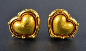 Tiffany Paloma Piccaso Heart Shape Ear Clips