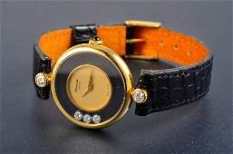 142: Chopard diamond gold lady's wristwatch