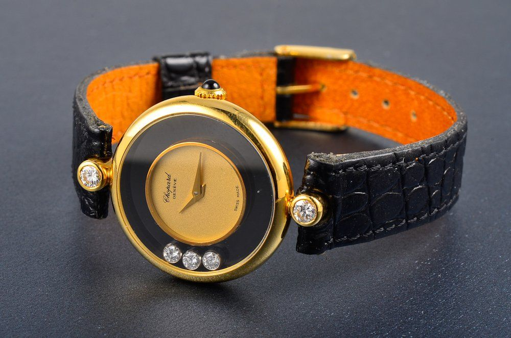 Chopard diamond gold lady's wristwatch