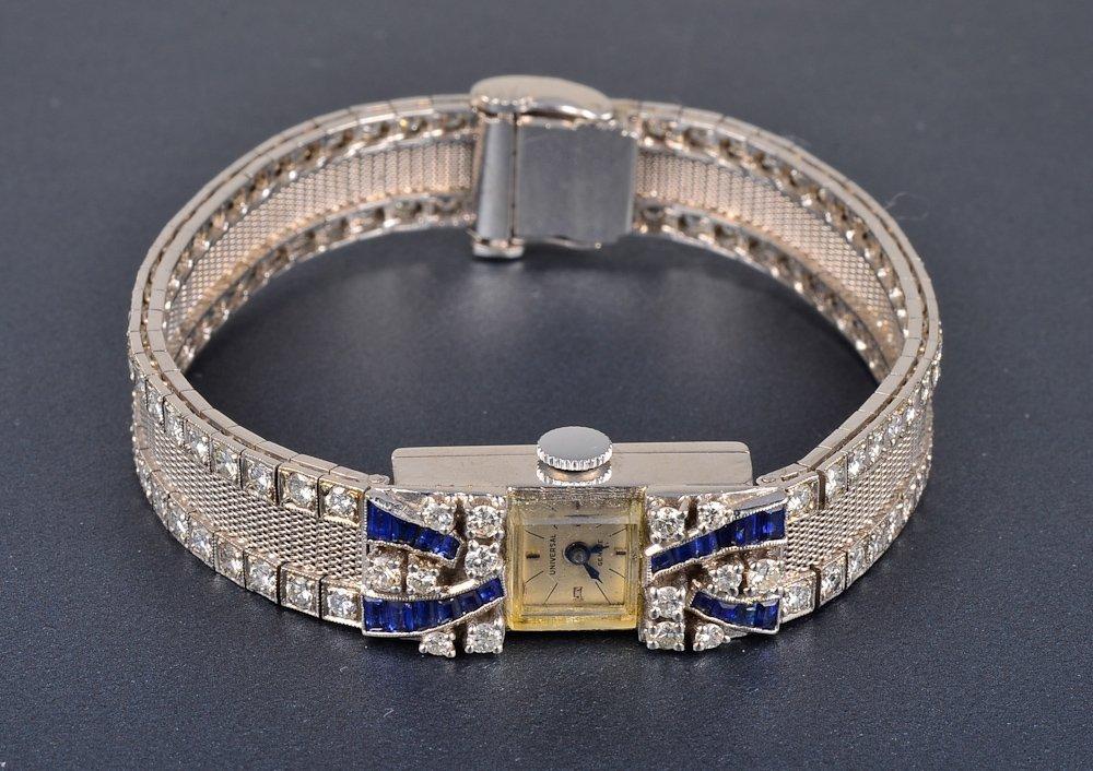 149: 14K diamond sapphire Universal lady's wrist watch