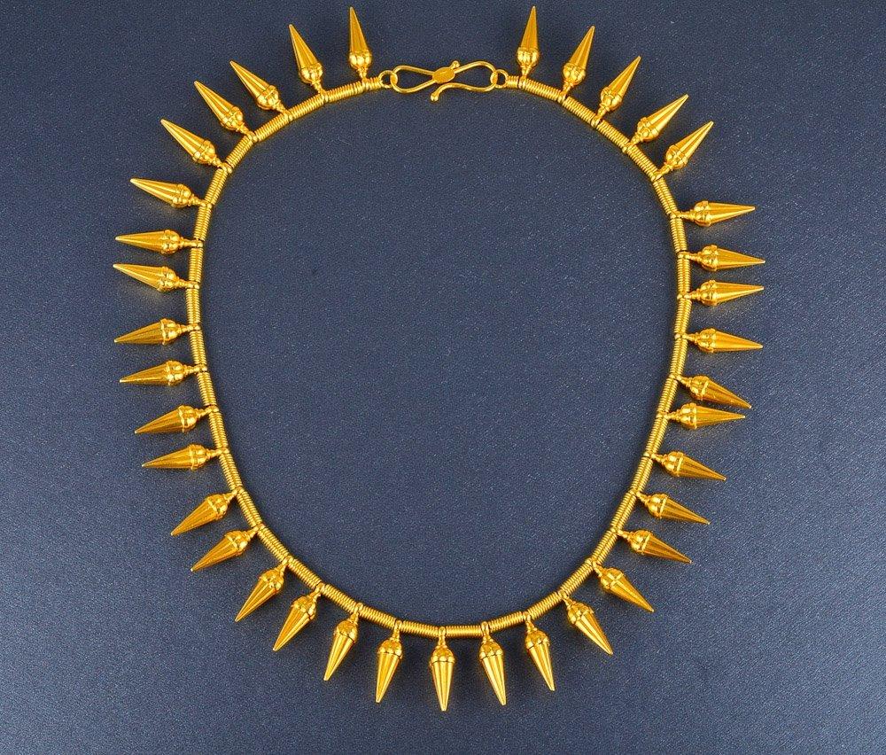 152: Castellani gold fringe necklace