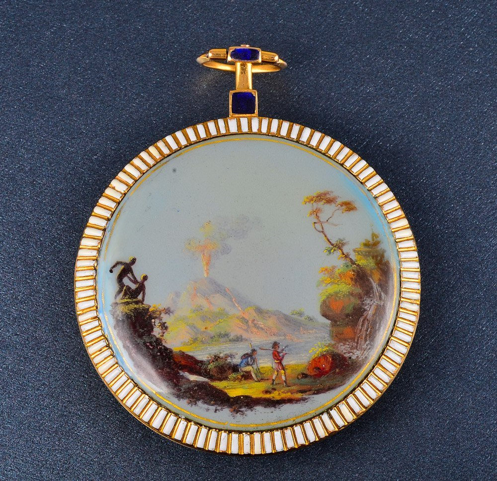 154:Breguet Paris Large antique enamel pocket watch