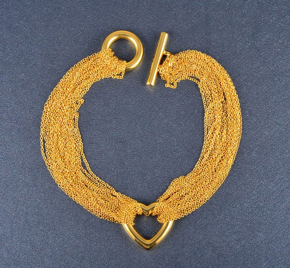 163: Tiffany & Co. multi-strand gold chain bracelet